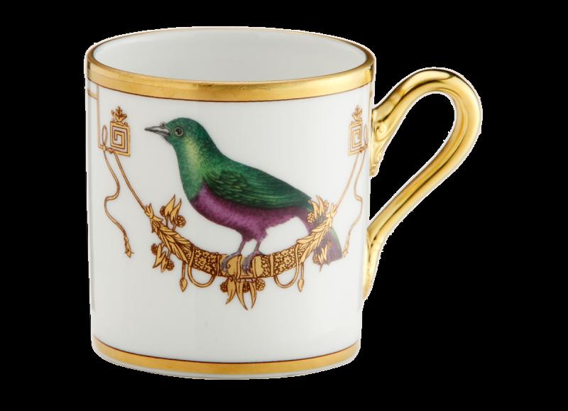 Espresso Cup Volière Mèrle Vert, large