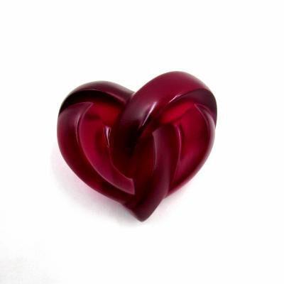 Fuchsia Heart Paperweigh