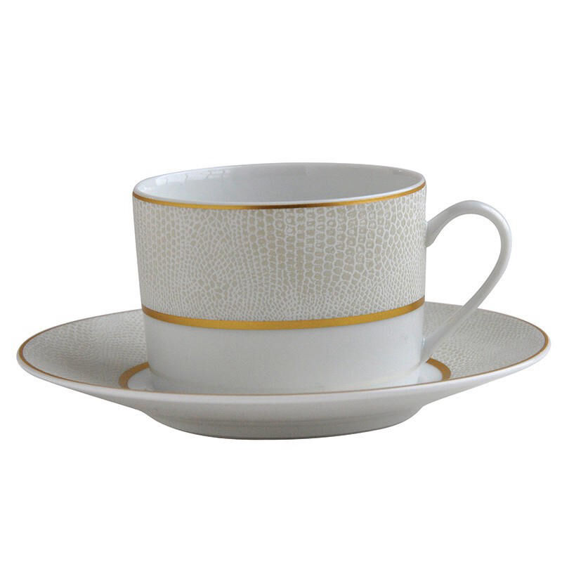Sauvage Blanc Extra Tea Cup And Saucer, large
