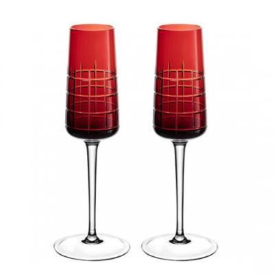 مجموعة من 2 مزامير الشمبانيا جرافيك