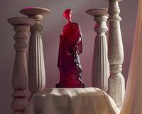 40th Ruby Tanagra Greek Statuette, small