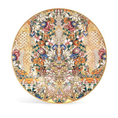 GOLDEN FLOWERS CHARGER PLATE