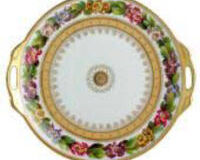 BOTANIQUE CAKE PLATE WITH HANDLES, small