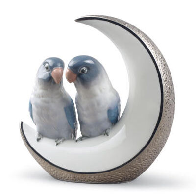 Fly Me to The Moon Birds Figurine.