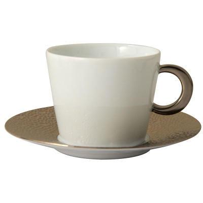 Ecume Platine tea Cups & Saucers