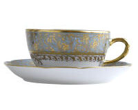 EDEN TURQUOISE TEA CUP & SAUCER, small