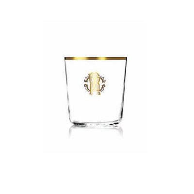 MONOGRAMMA GOLD OLD FASHION GLASS
