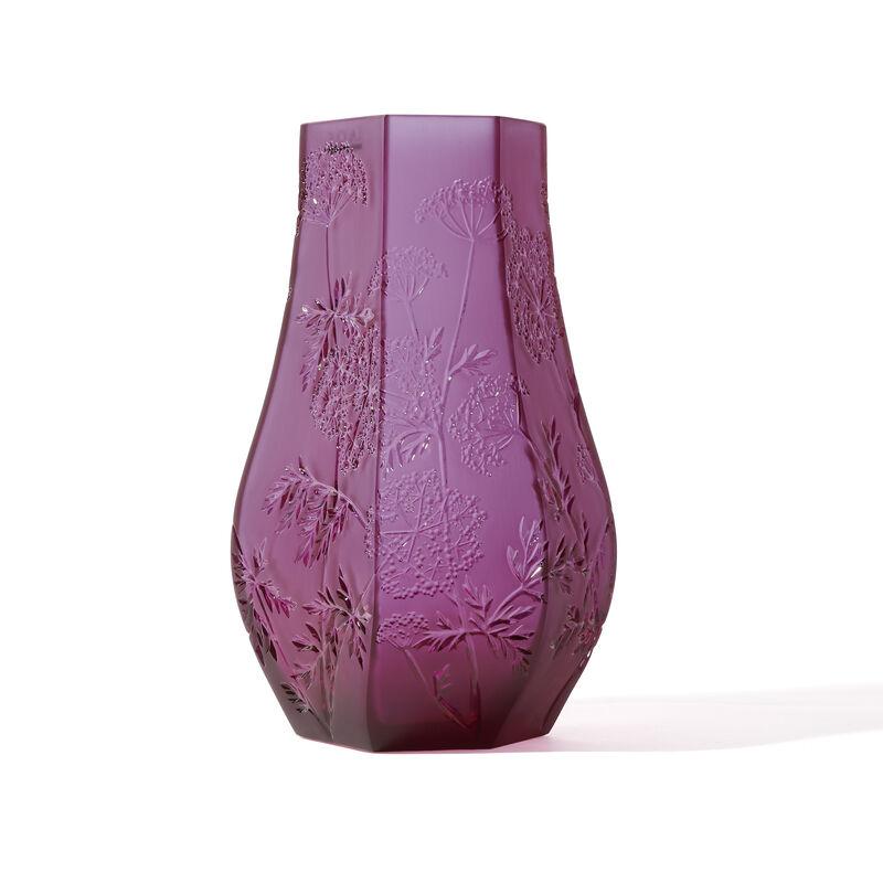 40th Ruby Ombelles Vase, large