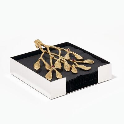 40th Ruby Mistletoe Napkin Box