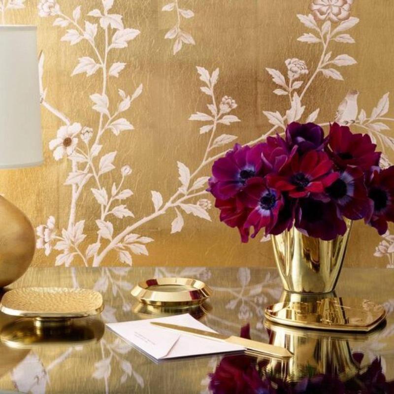 Gilded Clover Vase, large