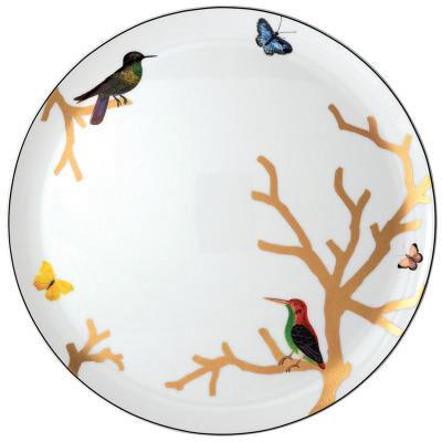 Aux Oiseaux Round Tart Platter