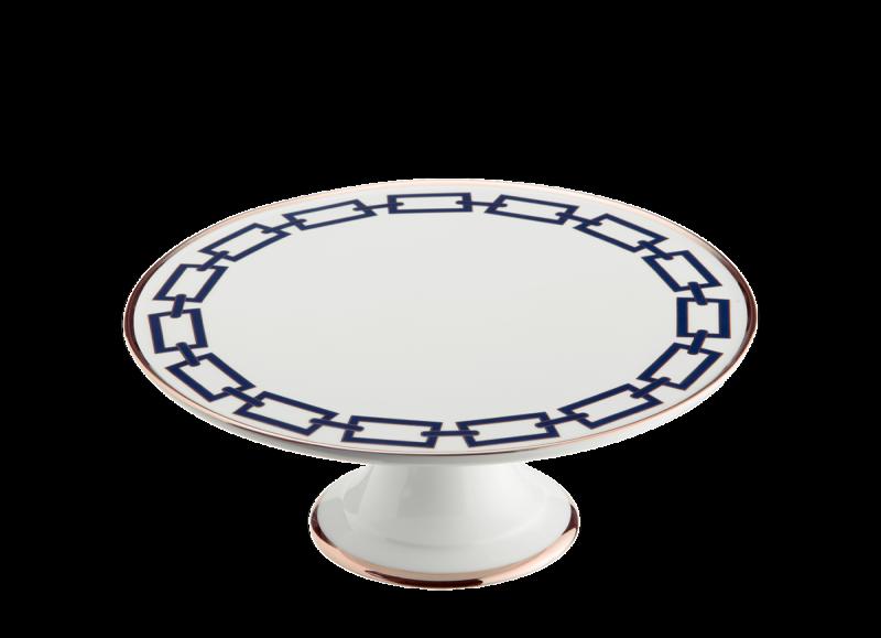 Cake Plate Catene Zaffiro, large