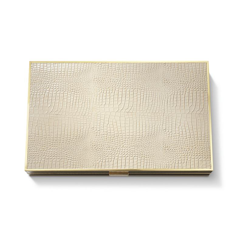 Croc Leather Backgammon Set, large