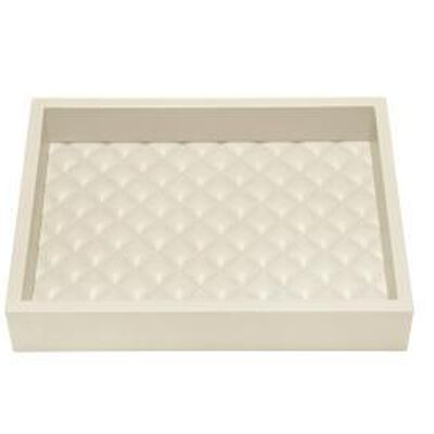 Leather Tray Quilted Padded