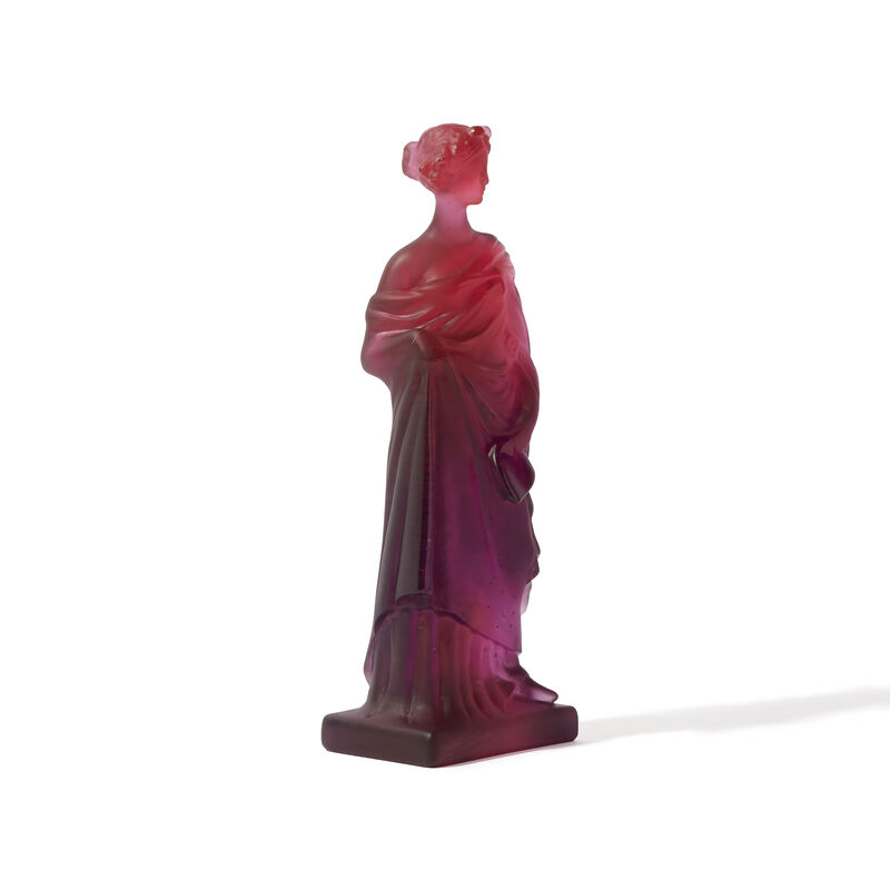 40th Ruby Tanagra Greek Statuette, large