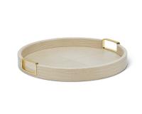 Carina Croc Leather Tray, small