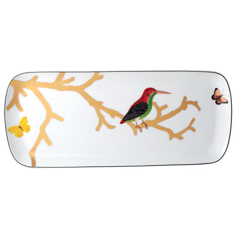 Aux Oiseaux Cake Platter Rectangular, large