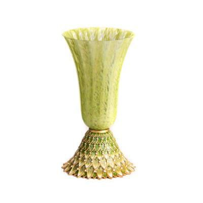 FLORA AND FAUNA FEATHER VASE
