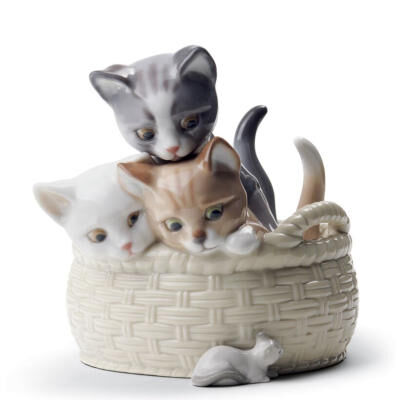 Curious Kittens Figurine