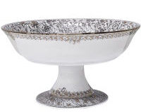 BRD EDEN PLATINE FOOTED BOWL, small