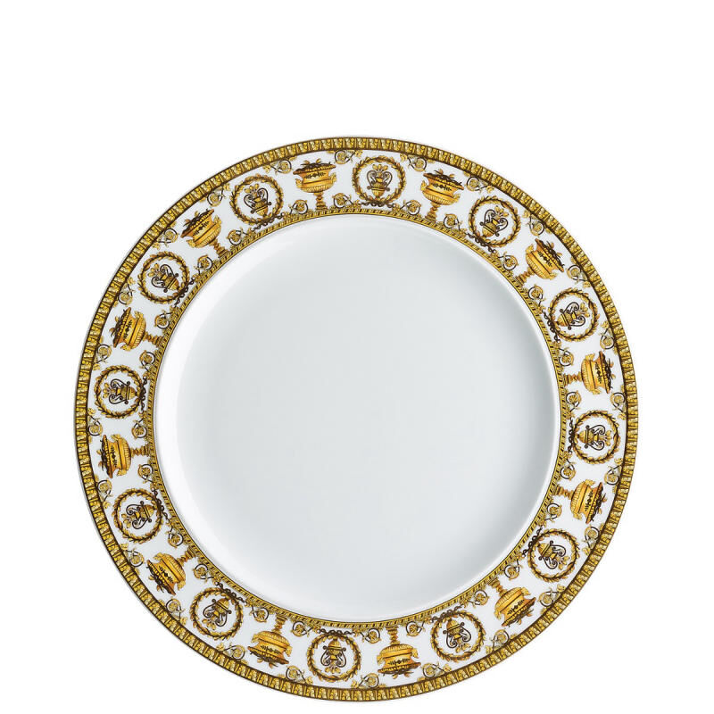 Versace Baroque Bianco Plate, large
