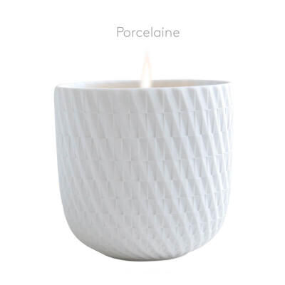 """TWIST """"Porcelain"""" refillable candle tumbler"""