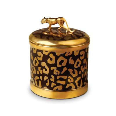 Luminiscense Leopard Candle