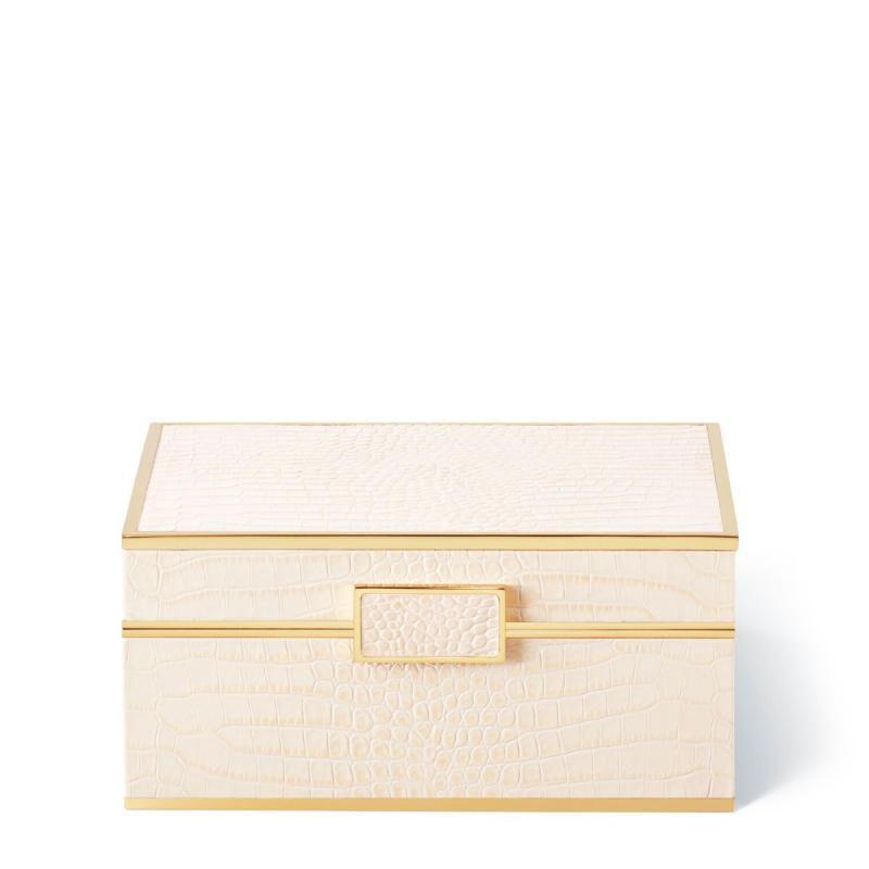 صندوق جلدي صغير من جلد التمساح, large