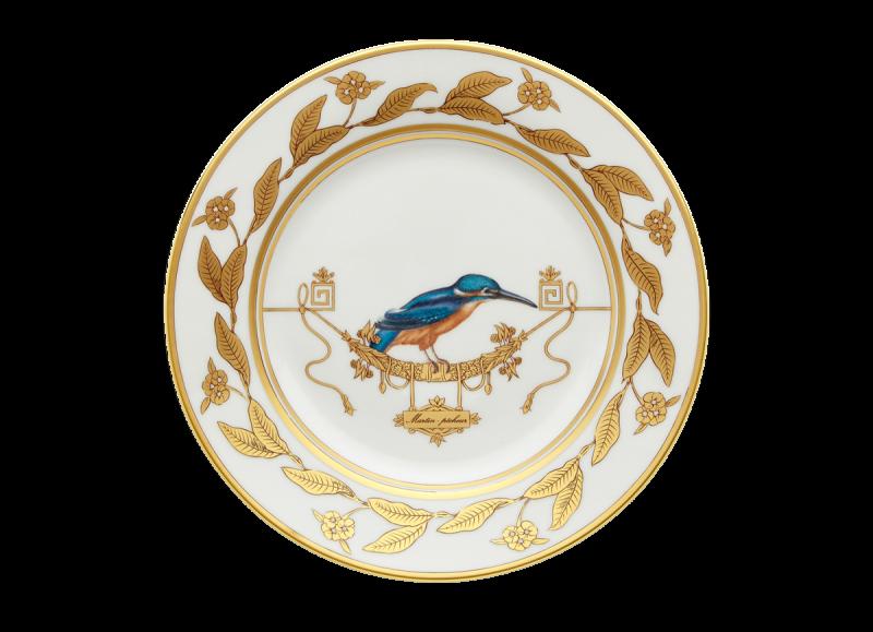 Dessert Plate Volière Martin-Pecheur, large
