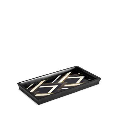 Deco noir tray