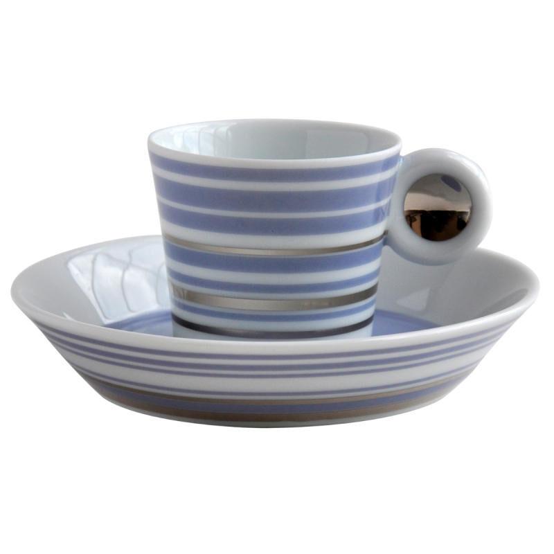 Lampeduza Set Of 6 Coffee Cups & Saucers Lavender Blu, large