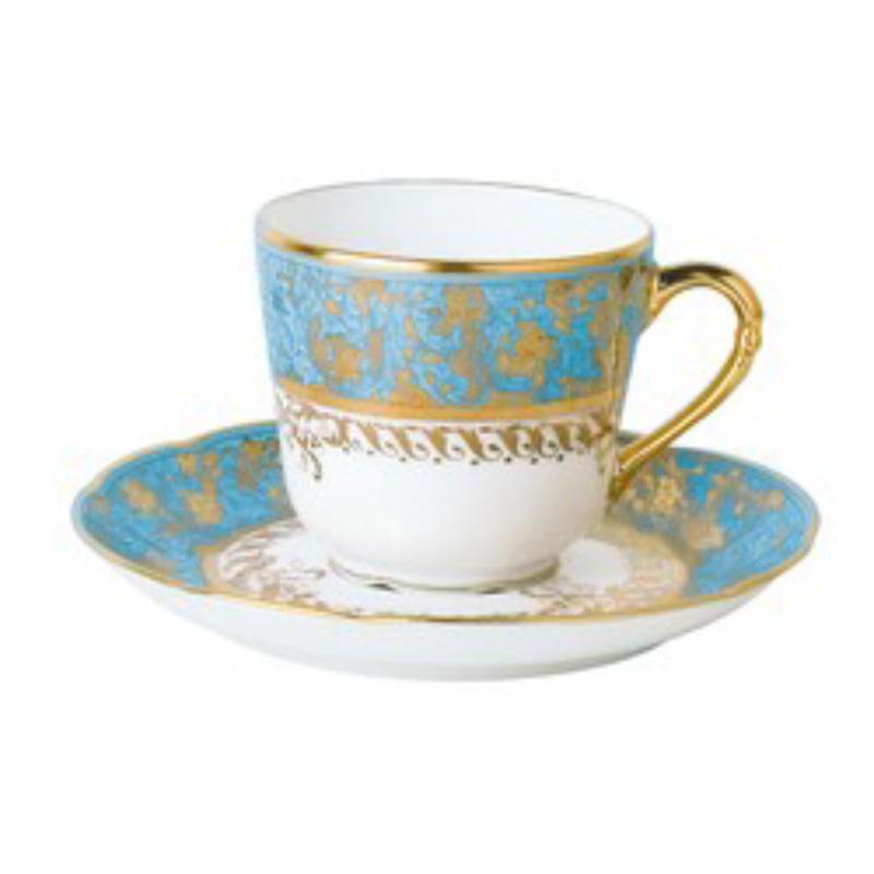 عدن تركوازي  فنجان القهوة وصحن, large