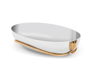 Deco Leaves Serving Boat, small