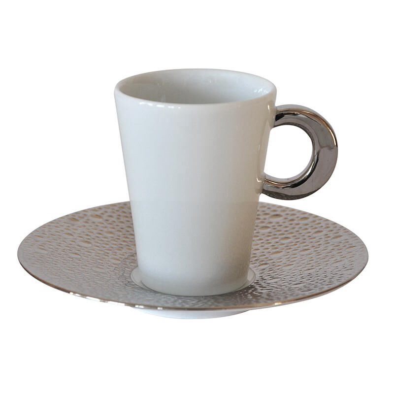 Ecume Platinum Coffee Cup & Saucer, large
