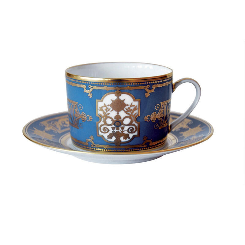 AUX ROIS TEA CUP AND SAUCER MO, large