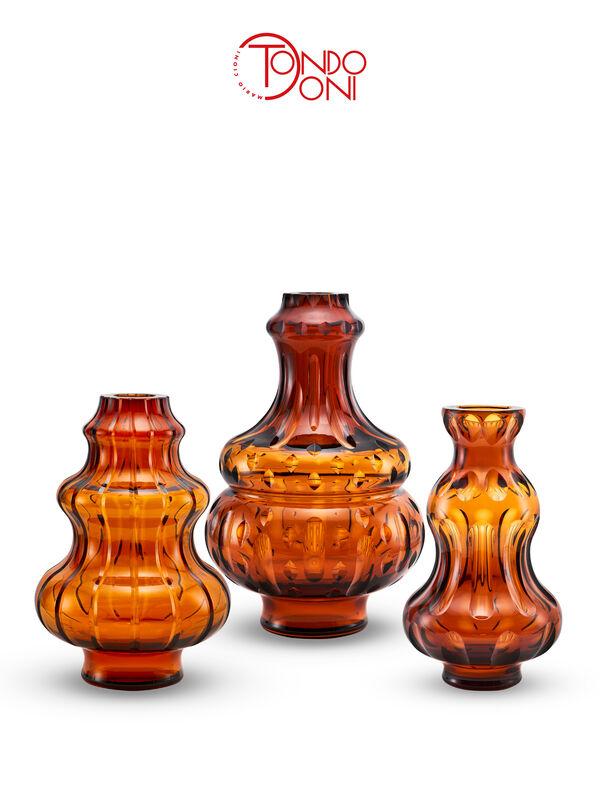 Passion Vaso In Cristallo Cognac, large