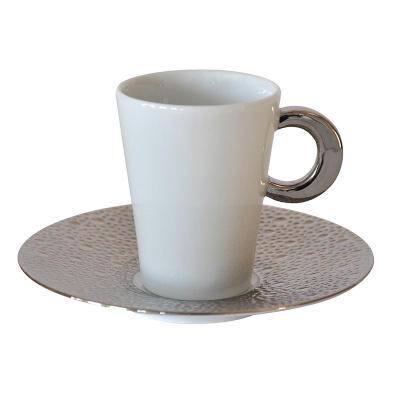 ECUME PLATINUM COFFEE CUP & SAUCER