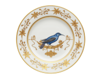 Dinner Plate Volière Grimpereau Bleu, small