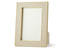 Croco Leather Frame, small