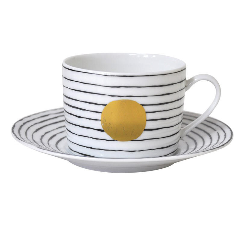 Aboro Tea Cup And Saucer, large