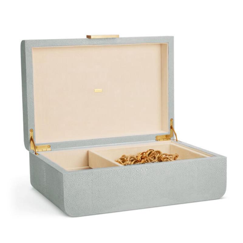 Modern Shagreen Jewelry Box, large
