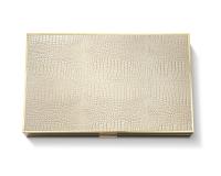 Croc Leather Backgammon Set, small