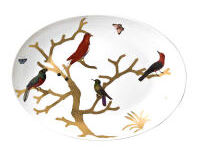 Aux Oiseaux Coupe Oval Platter, small