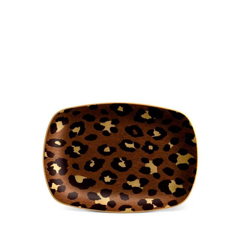 Leopard Rectangular Tray- Small, large