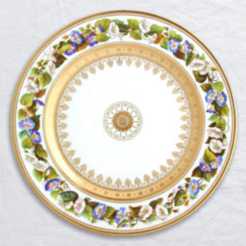 Botanique Dinner Plate Morning Glory, large
