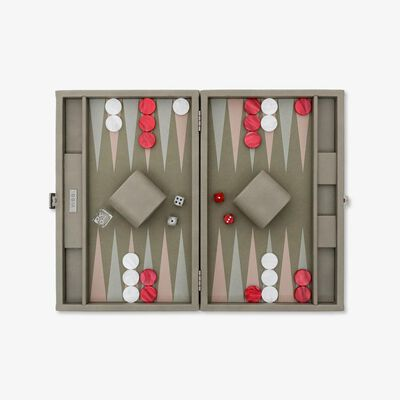 Light Grey Elephant Medium Backgammon Set