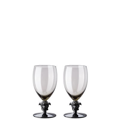 VERSACE MEDUSA LUMIERE HAZE SET OF 2 WHITE WINE GLASS