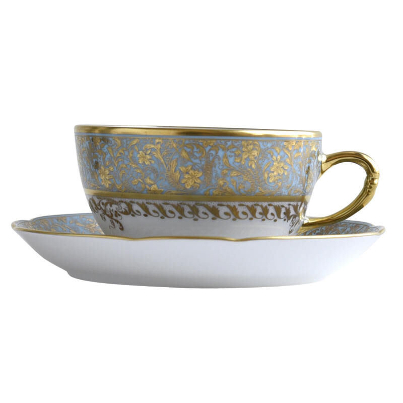 EDEN TURQUOISE TEA CUP & SAUCER, large