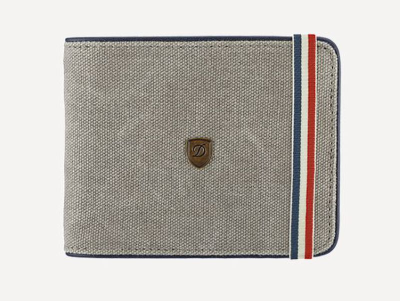 Billfold 6Cc Grey And Blue, large