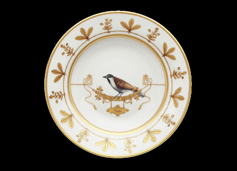 Soup Plate Volière Ortolan, large